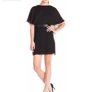 Halston Flowy Sleeve Colorblock Caftan Dress